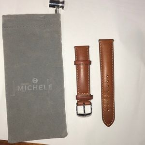 Michele 18 MM Leather Band